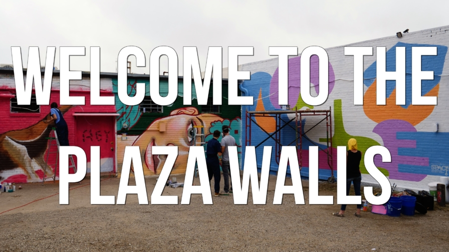Welcome to the Plaza Walls - feature film title still